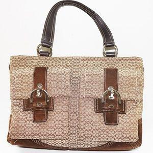 Coach Khaki Signature Tote Bag Purse #6427